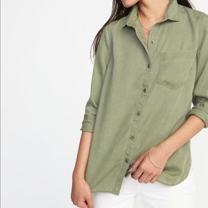 Old Navy Olive Button Up